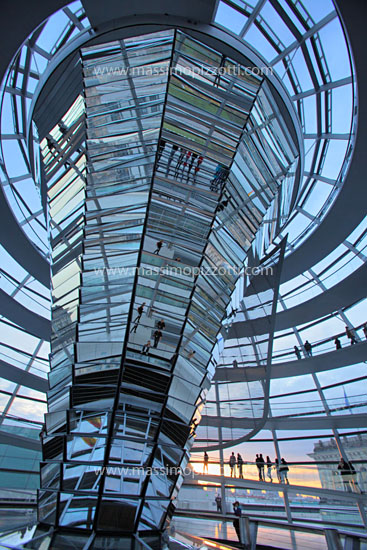 Germany, Berlin, The glass dome of Reichstag