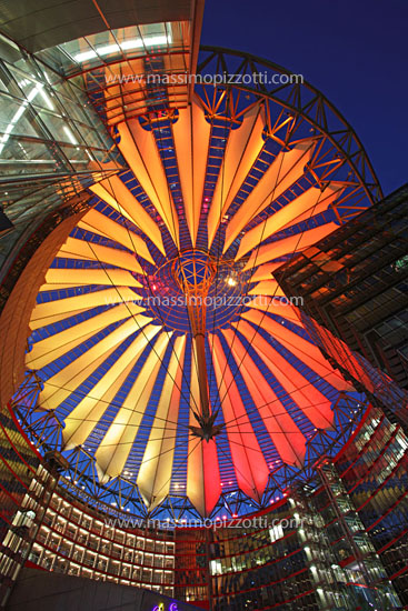 Germany, Berlin, The dome of the sony center