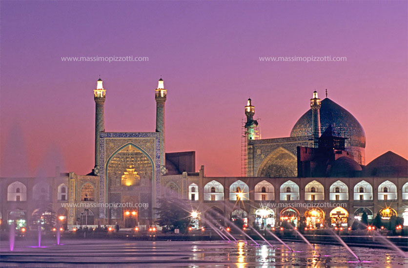 Iran, Esfahan, Imam mosque at the sunset