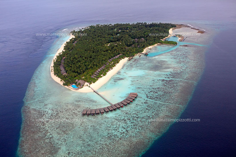 Maldives, Filitheyo, Aerial view of Filitheyo