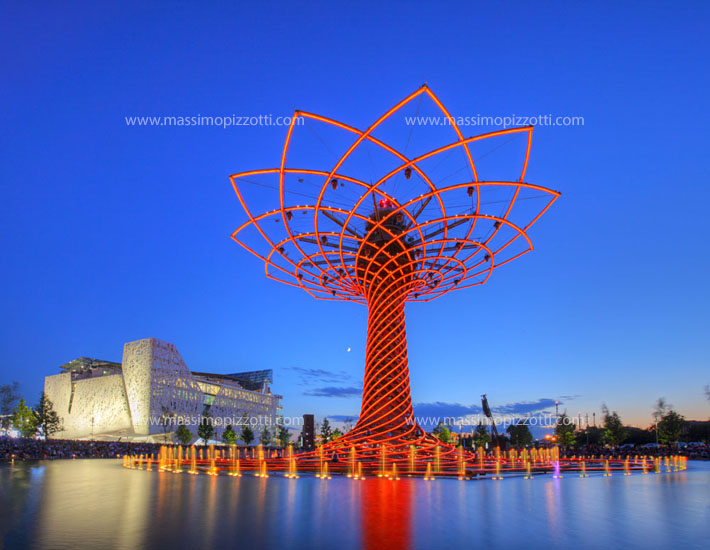 Italy, Milan, Tree of Life at Milan Expo 2015