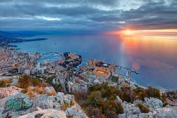 <b>Principality of Monaco, Montecarlo</b>, Sunrise from the Dog Head