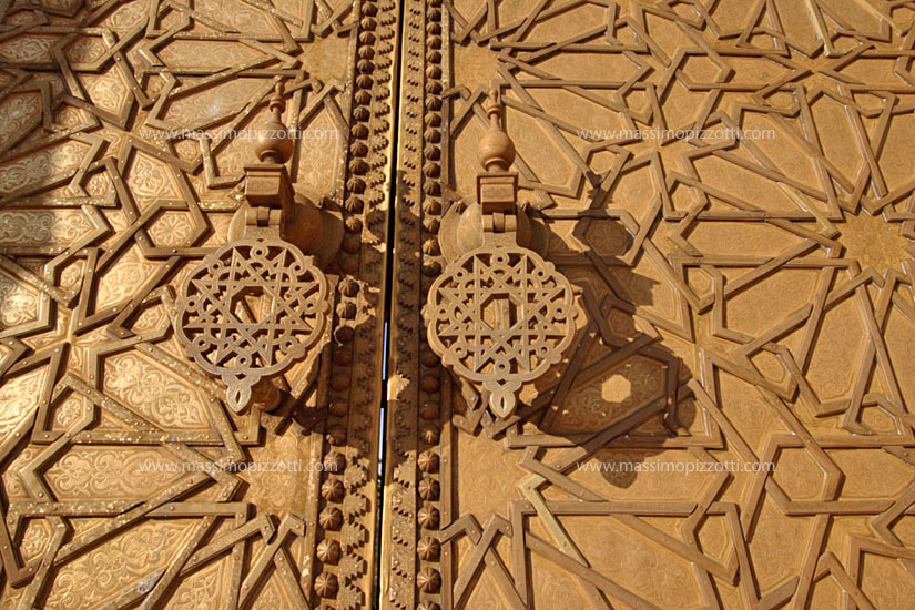 Morocco, Fes, Gate of the Royal Palace
