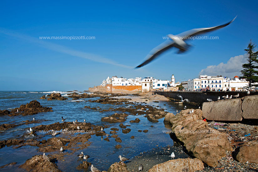 Morocco, Essaouira, The walls of the fortified city