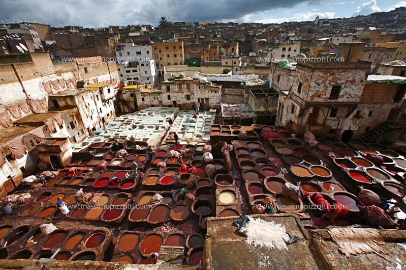 Morocco, Fes, Tanneries