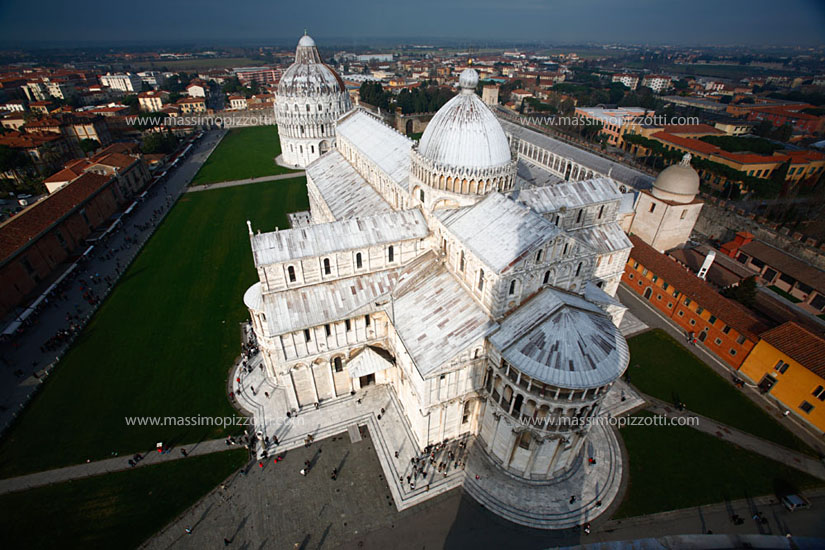 Italy, Pisa, Cathedral seen from the tower