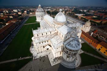 <b>Italy, Pisa</b>, Cathedral seen from the tower