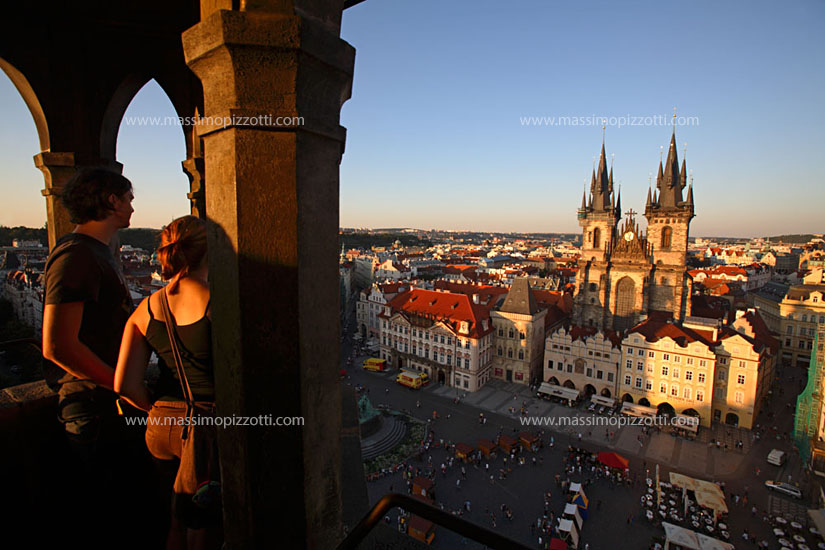 Czech Republic, Prague, The Tyn cathedral in the old town