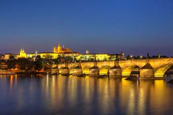 <b>Czech Republic, Prague</b>, Charles bridge over the Vlata river