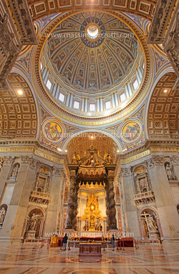 Italy, Rome, Interior of Saint Peters Basilica