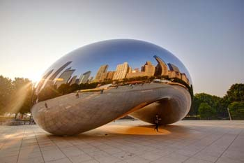 <b>USA, Chicago</b>, the Cloud Gate in Millenium Park