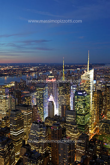 USA, New York City, Cityscape from Empire State Building