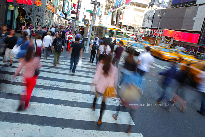 USA, New York City, Rush hour in Time Square