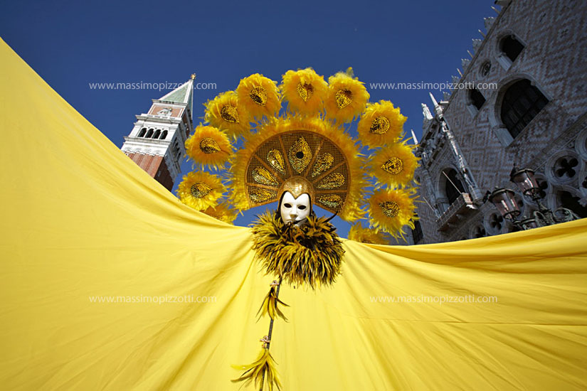 Italy, Venice, Mask at carnival