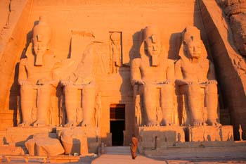 <b>Egypt, Abu Simbel</b>, Temple of Ramesses II at sunrise