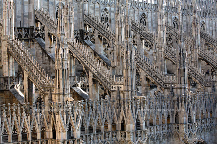 Italy, Milan, Pinnacles of Duomo