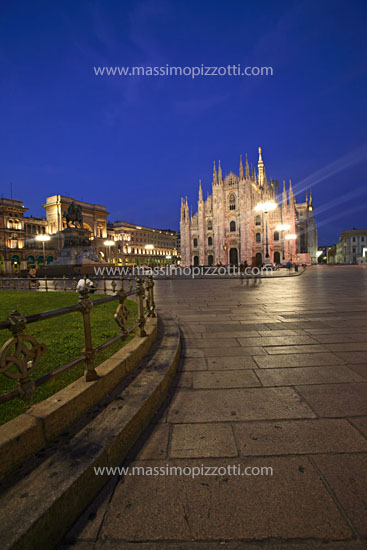 Italy, Milan, Duomo at night