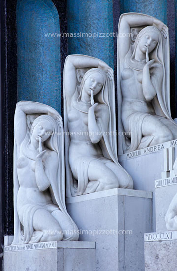 Italy, Milan, Tombstone at Monumental Cemetery