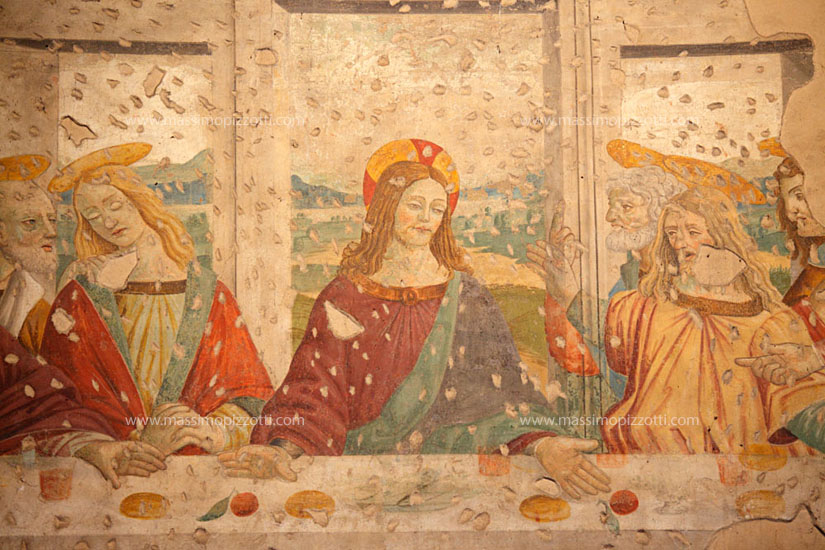 Italy, Milan, Last supper at San Lorenzo Basilica