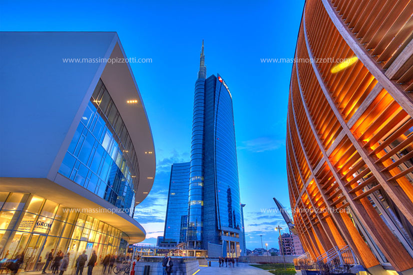 Italy, Milan, The modern center of Porta Garibaldi