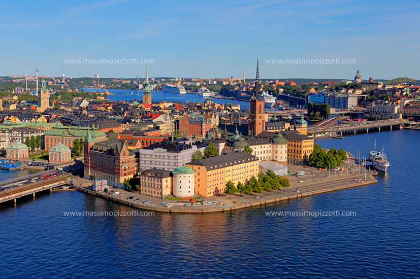 Sweden, Stockholm, Elevated view of Gamla Stan